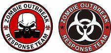 2 x Zombie Outbreak Stickers Surf Vinyl Decal EURO JDM DUB VW Funny Jap laptop
