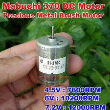 DC 7.2V 12000RPM High Speed Large Torque Mabuchi RF-370CA Metal Brush Motor
