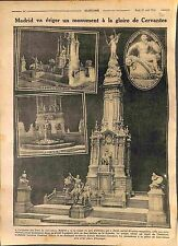 Monument Cervantes Plaza de Espana Madrid Lorenzo Coullaut Valera  WWI 1916