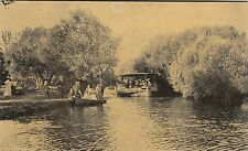Postcard Fairyland Lake Wendouree Ballarat Victoria showing boats, trees