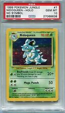 Pokemon Card Error/Misprint No Symbol Nidoqueen Jungle Set 7/64, PSA 10 Gem Mint