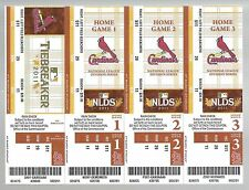 2011 NLDS BASEBALL FULL UNUSED TICKETS SHEET PHILLIES @ CARDINALS GAME #1,2,5