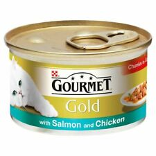 Gourmet Gold Salmon & Chicken Chunks in Gravy 85g (PACK OF 6)
