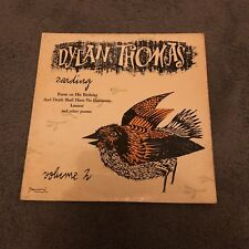 Dylan Thomas - Reading Volume 2 (Vinyl) Poem On His Birthday + More. See Listing