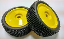Jazrider 1/8 RC Off Road Buggy Yellow Dish Wheel w/Tire(2pcs)For HPI Associated