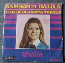 Sheila, samson et Dalila / plus de chansons tristes, SP - 45 tours