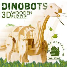 ROKR Dinosaure 3D Wooden Puzzle Apatosaurus Sound Control Model Building Set Toy