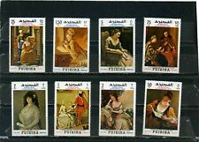 FUJEIRA 1968 Mi#276-283A PAINTINGS SET OF 8 STAMPS MNH