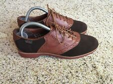 MISMATCH Bass Women's Enfield Saddle Oxford Left 9N Right 10N Brown Suede Kd6