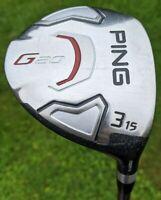 PING G20 3 WOOD - 15 DEGREE - PING TFC 169 F REGULAR FLEX SHAFT