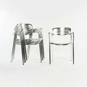 2000s Jorge Pensi for Knoll and AMAT 3 Toledo Aluminum Outdoor Stacking Chairs