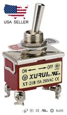 HEAVY DUTY DPST ON-OFF TOGGLE SWITCH 20A 125V, 15A 250V SCREW TERMINALS (21B)