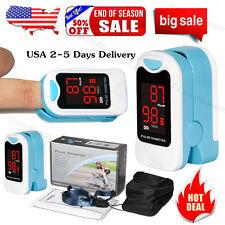 Finger Pulse Oximeter Fingertip Blood Oxygen Meter SPO2 Heart Rate Monitor,Pouch