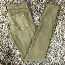 RAG & BONE Size 28 Womens Skinny Jeans Dist Army Green Mid Rise MSRP $300+   009