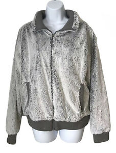 Patagonia Women's Fleece Bomber Jacket Medium Gray Common Threads Zip Up Warm