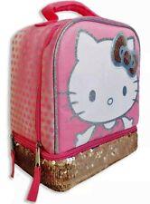 Hello Kitty Sanrio Ragazze senza Piombo Dual-Chamber Strass Pranzo Borsa Box Kit