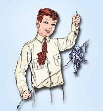 1920s Vintage Butterick Sewing Pattern 5406 Uncut Little Boy's Shirt Blouse Sz 6