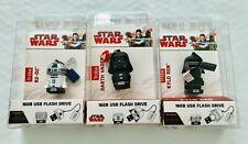 Star Wars R2-D2 Darth Kylo USB Flash Drive 2.0 Memory Stick Set 16G Tribe New