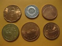Fish  coins 6 different all are uncirculated nice starter set  animal  nice set