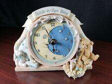 1996 Enesco Cherished Teddies Rock-A-Bye Baby Clock 203939