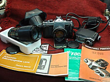 VINTAGE PENTAX SP500 SLR CAMERA/2 LENESES/ FLASH UNIT & MORE + BONUS