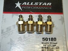 "Brake Caliper Bleeder Fitting Screw 1/8"" NPT  Set of 4 All50180"