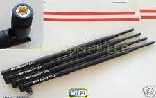 4 9dBi 2.4 and 5gHz RP-SMA WiFi Antennas Asus D-link Netgear Linksys Buffallo US