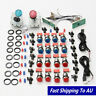 2 Player Arcade DIY Kit Game USB Controller Joystick LED Lighted Push Button
