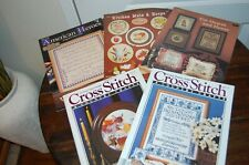 Cross Stitch Patterns Lot of 6 Magazines and Leaflets