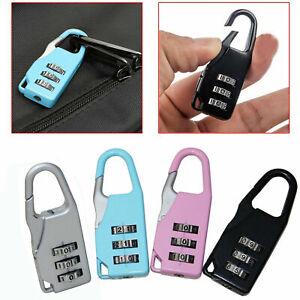 4Pcs Security Outdoor 3-Digit Combination Lock Bag Travel Luggage Padlock Set