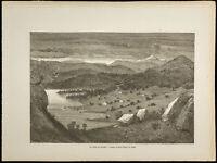 1860 - Tal der Bolkesjo (Norwegen) - Gravur von Gustave Golden