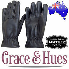 Top Quality Waterproof / Windproof Mens Genuine Real Leather Gloves Winter Snow