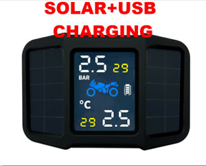 Motorcycle Solar/USB Waterproof Tire Pressure Monitoring System