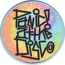 PANIC AT THE DISCO - TYE DYE LOGO - EMBROIDERED PATCH - BRAND NEW - MUSIC 4569