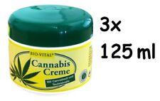 3,17Eur/100ml) 3x Creme BIO-VITAL Kosmetik Cannabis Öl Teufelskralle, 3x 125ml