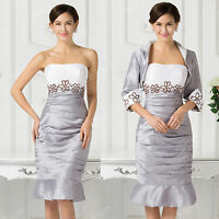 2016 Mother Of The Bride Dress Formal Outfit For Wedding Free Jacket SZ 12 14 16