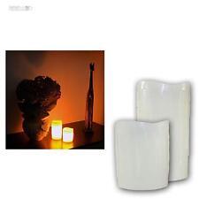 2er Set LED Kerze, flackernd Echtwachs-Mantel, flammenlose Wachs Kerzen candles