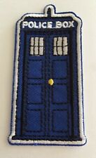 "Doctor Who Tardis Police Box Embroidered Iron On Patch 3""X1 1/2"""