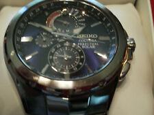 Seiko SSC375 Chronograph Stainless Steel Perpetual Coutura Solar Mens