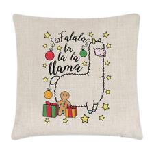 FA Lala Llama Linen Cushion Cover Pillow - Funny Christmas