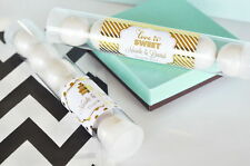 24 Metallic Foil Personalized Candy Tubes Bridal Shower Wedding Favors