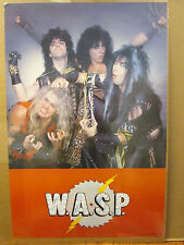 Vintage 1984 W.A.S.P original rock band music artist poster 8844