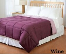 8 Pcs Bed In a Bag (Comforter+Sheet Set+Duvet Set) Wine Solid Us King