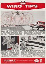 Aviation Magazine Add - ESSO Wingtips Add - Wake Turbulence Add (1963)
