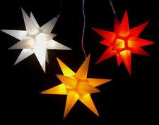 3er LED Außen-Stern-Set 3farbig Außenstern Adventsstern Weihnachtsstern Outdoor