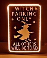 "12"" WITCH PARKING ONLY ORANGE LED SIGN NT0661 HaLLoWeeN FUN"