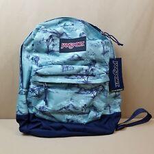 JanSport Black Label Superbreak Backpack Aloha Palms School Book Bag Original