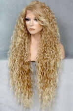 Long Full Lace Front Wig Spanish Wavy Blonde mix Hairpiece Heat OK WBSM T27-613