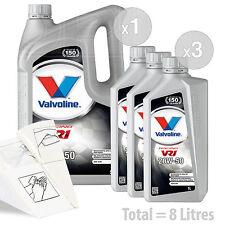 Car Engine Oil Service Kit / Pack 8 LITRES Valvoline VR1 Racing 20w-50 8L