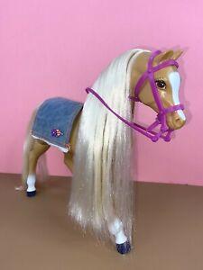 Vintage Barbie Doll 1993 Walking High Stepper Palomino Horse
